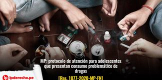 adolescentes drogas resolución 1077-2020-MP-FN con logo lp