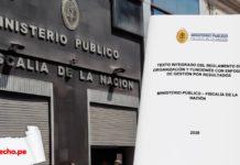 Reglamento de Organización y Funciones del Ministerio Público con logo de LP