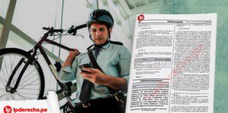 resolución Administrativa 000288-2020-CE-PJ trabajadore con bicicleta con logo LP