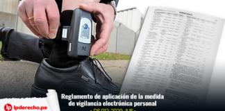 Decreto Supremo 012-2020-JUS vigilancia electrónica personal con logo lp
