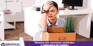 trabajador oficina despido tardanza inasistencia laboral LP