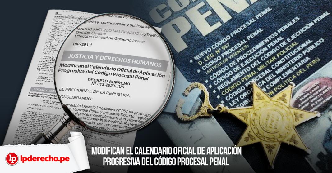 Decreto Supremo 013-2020-JUS Código Procesal Penal con logo LP