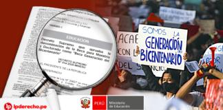 Decreto Supremo 014-2020-Minedu beca generación bicentenario con logo LP