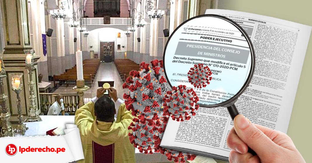 Decreto Supremo 178-2020 Cura celebrando misa con norma legal y logo lp