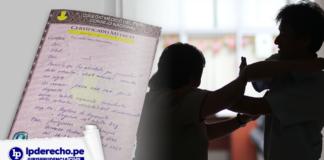 Violencia familiar con certificado médico y logo de jurisprudencia civil y LP