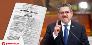 Manuel Merino renuncia con logo de LP