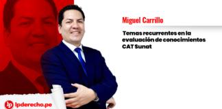 Miguel-Carrillo-temas-recurrentes-de-la-evaluación-CAT-Sunat-LP