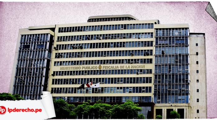 Fachada de Ministerio Publico con logo de LP