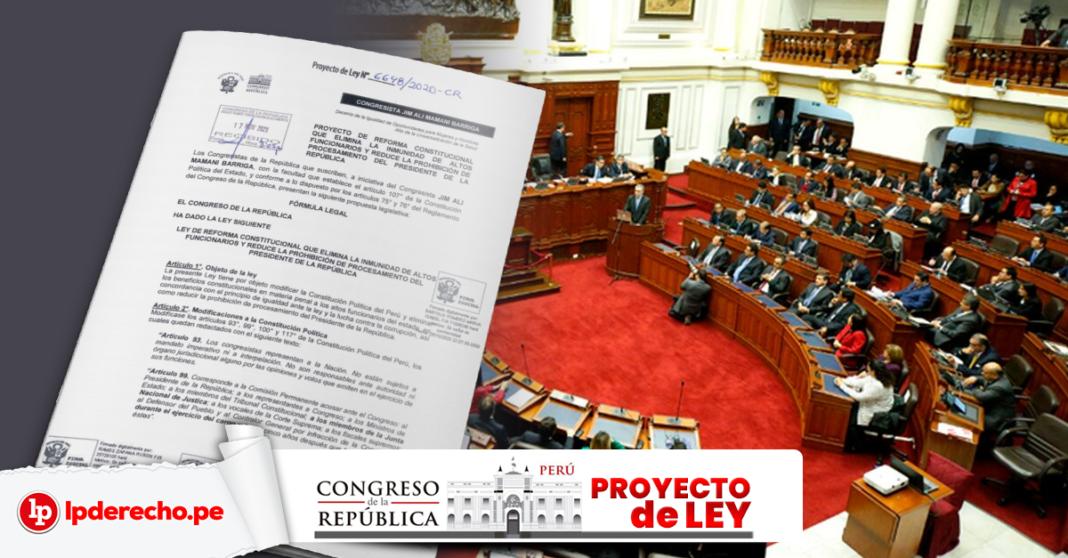 Proyecto ley 6648-2020 con fachada del congreso y LP