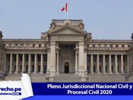 Fachada de la Corte Suprema y Pleno Jurisdiccional Nacional Civil y Procesal Civil 2020 con logo de jurisprudencia civil y LP