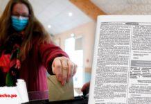 Resolución jefatural 382-2020-jn-onpe con imagen de una mujer depositando su voto y logo de LP