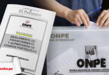 Reglamento de financiamiento y supervisión de fondos partidarios Resolución 000436-2020-JN/ONPE con logo de LP