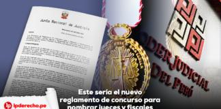 Junta Nacional justicia pode judicial con logo lp