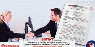 ¿Se puede acreditar experiencia laboral en concurso público mediante órdenes de servicio?