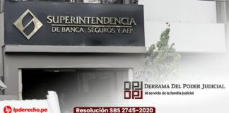 Fachada de la SBS con Derrama del Poder Judicial Resolución SBS 2745-2020 con logo lp