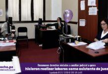 Expediente 01257-2019, con foto de asistente judicial y logo de jurisprudencia laboral y LP