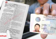 MTC licencia de conducir electrónica con logo de LP