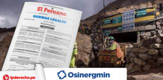 Mineria con Osinergmin norma legal con logo de LP