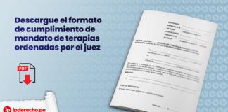 Descargue el formato de cumplimiento de mandato de terapias ordenadas por el juez con logo de LP