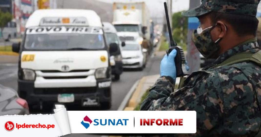 Informe Sunat toque de queda con logo de LP