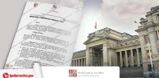 Poder Judicial con resolución y logo de LP
