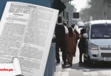 Resolucion Ministerial 029-2021-mtc-01.02 reglamento del auto colectivo con logo de LP