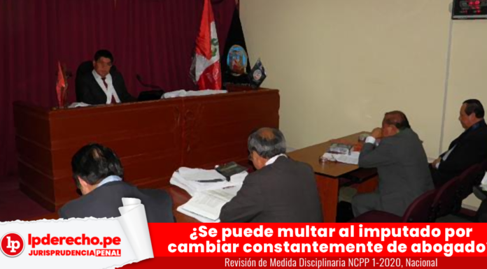 Revision de Medida Disciplinaria NCPP 1-2020, Nacional con logo de LP