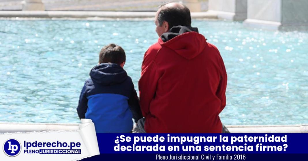 Se puede impugnar la paternidad declarada en una sentencia firme con logo de jurisprudencia civil y LP