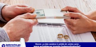 Casación 3464-2010, Lima-LP - divorcio estatus social indemnización dinero matrimonio anillos