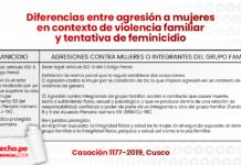 Cuadro comparativo entre feminicidio y agresiones contra la mujer en contexto de violencia familiar