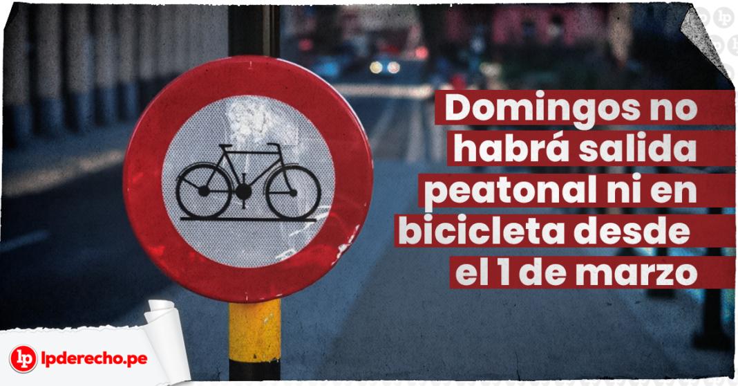 Señalética prihibido bicicletas