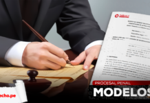 Escrito de solicitud de constitución en actor civil con logo LP