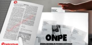 Resolucion 000043-2021-JN-ONPE - exoneración peruanos extranjero pago trámite no miembro de mesa logo LP