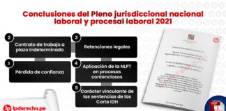 Conclusiones del Pleno jurisdiccional nacional laboral y procesal laboral 2021