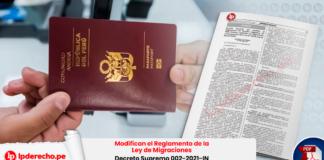 Modifican el Reglamento de la Ley de Migraciones