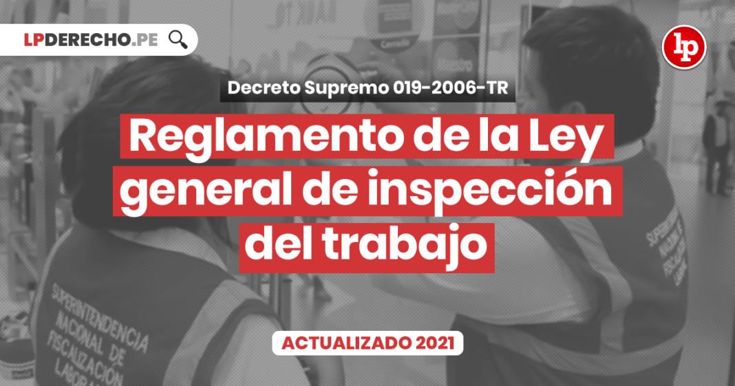 Reglamento de la Ley general de inspección del trabajo con logo de LP