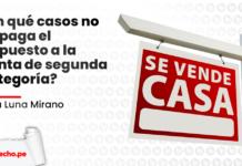 En que casos no se paga el Impuesto a la Renta de segunda categoria Nalú Luna Mirano con logo LP