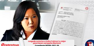 Juzgado autoriza a Keiko Fujimori a viajar para hacer campaña electoral