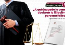 A qué juzgado le compete declarar la filiación con persona fallecida: ¿juez de familia o paz letrado?