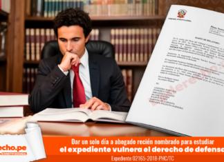 Dar un solo día a abogado recién nombrado para estudiar el expediente vulnera el derecho de defensa