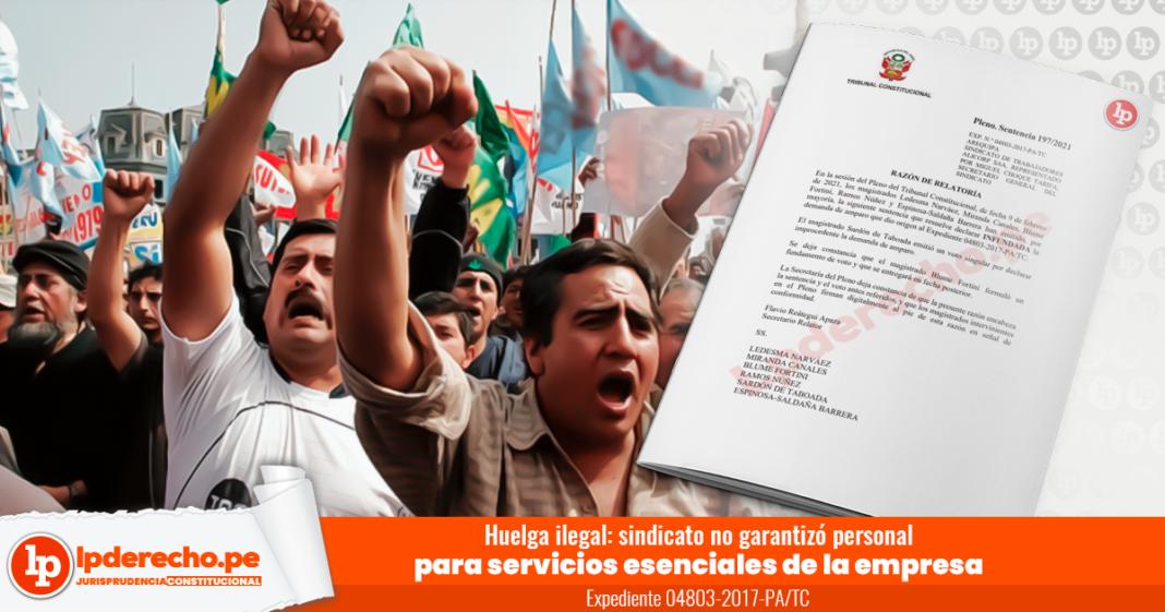 Huelga ilegal: sindicato no garantizó personal para servicios esenciales de la empresa