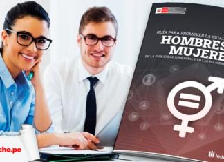 Guía para promover la igualdad entre hombre y mujeres en la publicidad y las relaciones de consumo con logo de LP