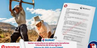 Sector acuicultura no aplica a los beneficios tributarios de la Ley Agraria