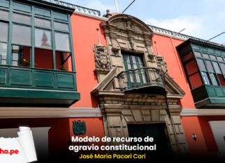 Modelo de recurso de agravio constitucional fachada del Tribunal Constitucional con logo LP