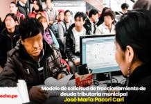 deudas tributarias municipalidad-LP