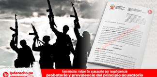 Terrorismo: retiro de acusación por insuficiencia probatoria y prevalencia del principio acusatorio