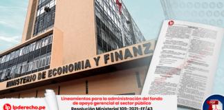 Lineamientos para la administración del fondo de apoyo gerencial al sector público