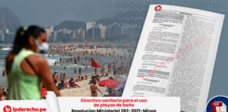 Directiva sanitaria para el uso de playas de baño