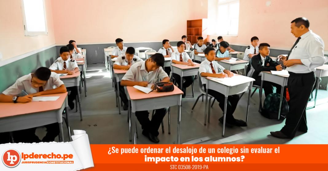 Colegio desalojo alumnos -logo LP