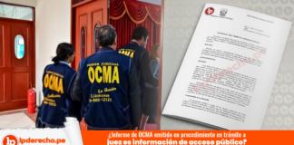 ¿Informe de OCMA emitido en procedimiento en trámite a juez es información de acceso público?